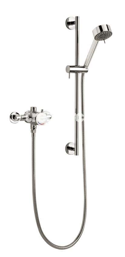 TRE MERCATI EXPOSED / CONCEALED SEQUENTIAL THERMOSTATIC SHOWER VALVE WITH MULTI FUNCTION KIT CHROME PLATED