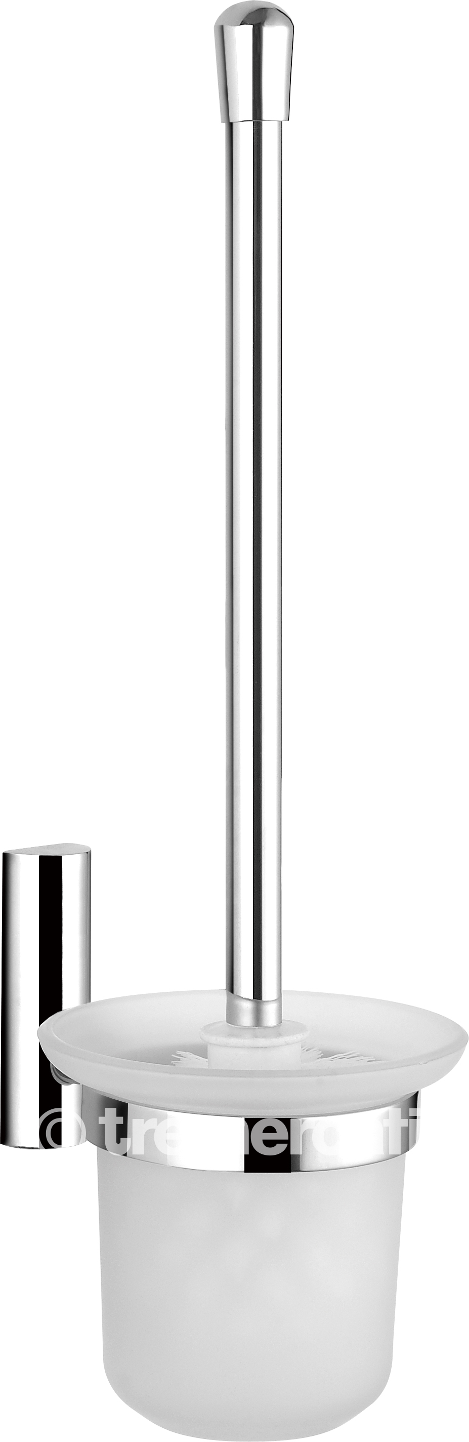 TRE MERCATI TWIGGY WALL MOUNTED TOILET BRUSH AND HOLDER - CHROME PLATED
