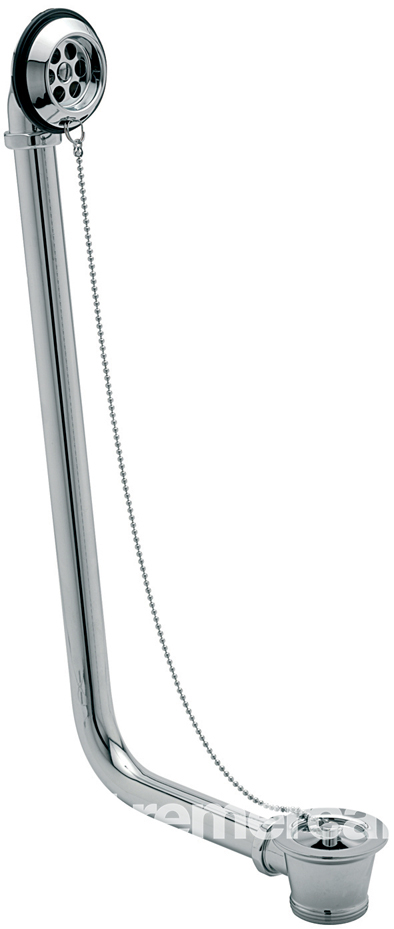 """TRE MERCATI 1 1/2"""" BSP EXPOSED BATH WASTE WITH SOLID PLUG & CHAIN - (FOR FREE STANDING BATHS) - CHROME PLATED"""