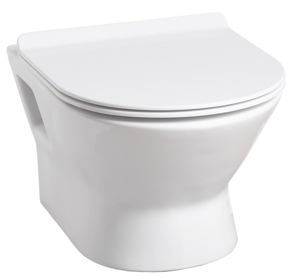 QX VENICE WALL-HUNG PAN & SOFT CLOSE SEAT