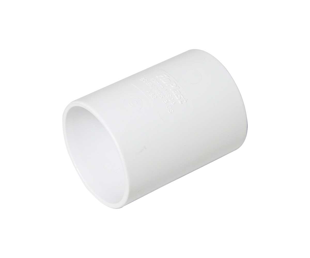 FLOPLAST WS07 32MM ABS SOLVENT WELD WASTE - COUPLING - WHITE