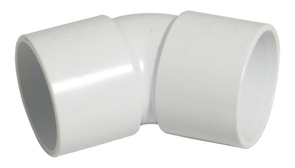 FLOPLAST WS18 32MM ABS SOLVENT WELD WASTE - 135* (45*) BEND - WHITE