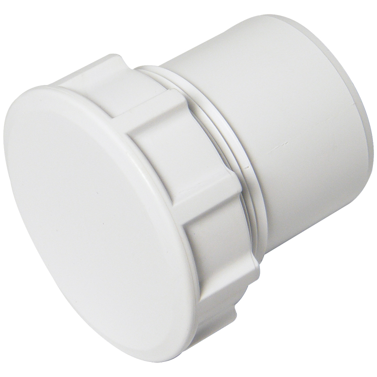 FLOPLAST WS30 32MM ABS SOLVENT WELD WASTE - ACCESS PLUG - WHITE