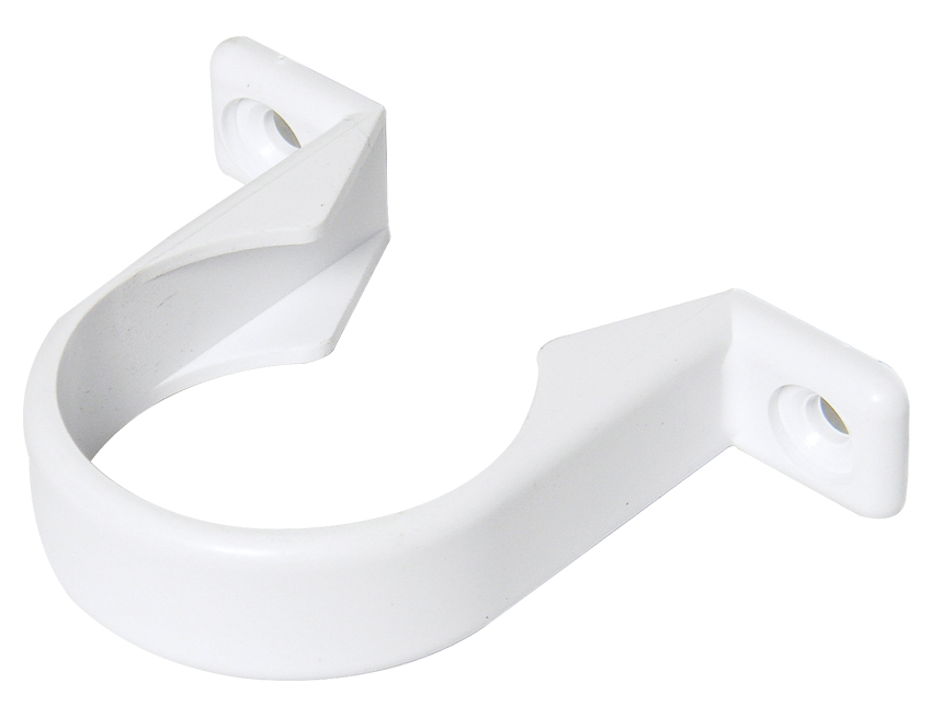 FLOPLAST WS34 32MM ABS SOLVENT WELD WASTE - PIPE CLIP - WHITE