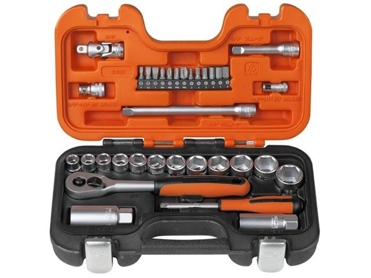 "BAHCO - 34 PIECE 3/8"" SOCKET SET WITH 1/4"" BITS - XMS1938SS"
