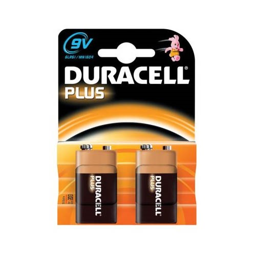 DURACELL - 9V BATTERY - TWIN PACK - XMS19BAT9V2