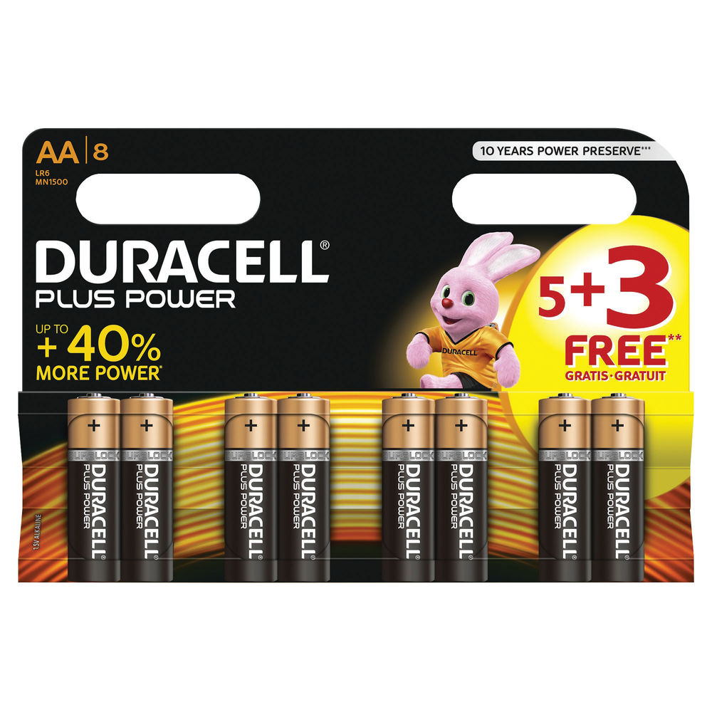 DURACELL - AA BATTERIES - MULTI-PACK - XMS19BATAA8