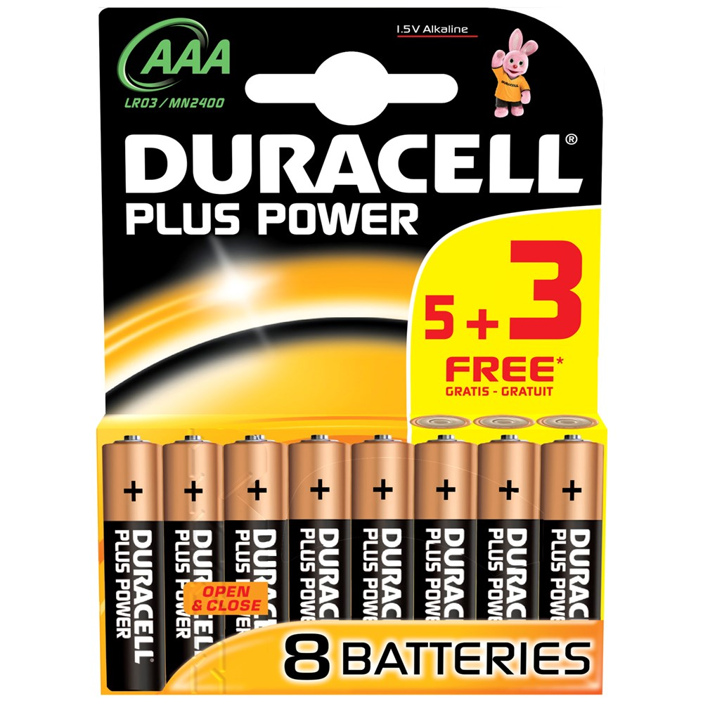 DURACELL - AAA BATTERIES - MULTI -PACK - XMS19BATTAAA8