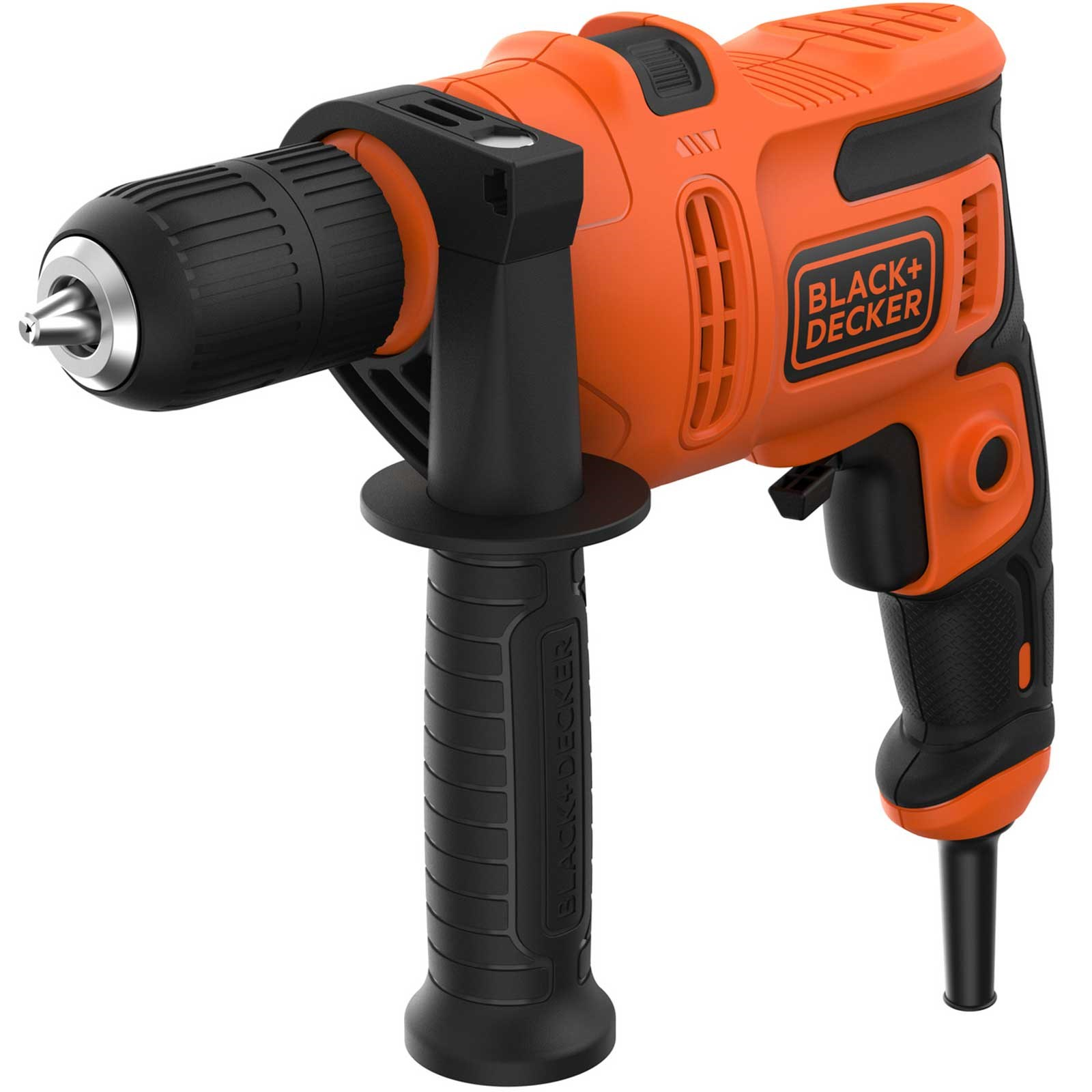 BLACK & DECKER - 500W HAMMER DRILL WITH 8 PIECE DRILL BIT SET - XMS19BD500WD