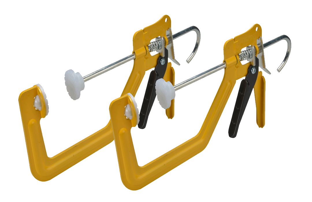 """ROUGHNECK TURBOCLAMP ONE-HANDED SPEED CLAMP 150MM (6"""") TWIN PACK 38-012"""