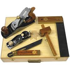 FAITHFULL CARPENTERS TOOL KIT 5 PIECE IN WOODEN BOX - XMS19PLANE5