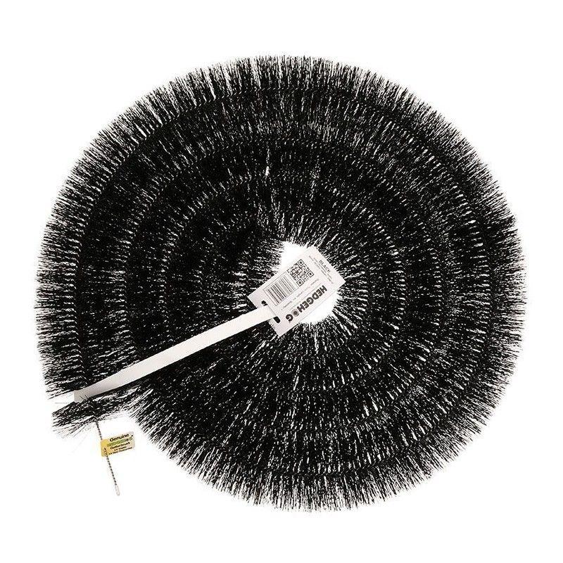 Hedgehog Gutter Brush 4 Metre x 100mm - Black
