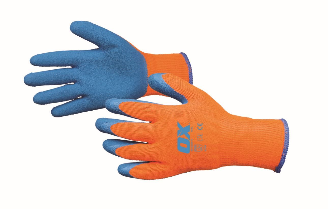 OX Safety Thermal Grip Gloves Size 10 Extra Large (XL)